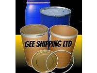 We shipping to Florida, caribbean, Miami, Barrels, containers, Plastic, steel Drums, global,haulage