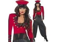 CHERYL COLE SOLDIER FANCY DRESS OUTFIT SIZE 12/14 GREAT FOR PARTY OR HEN DO