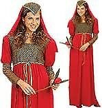 RED JULIET TYPE OUTFIT SIZE 10/12 GREAT FOR FANCY DRESS OR HEN DO INCLUDES DRESS AND HEADPIECE