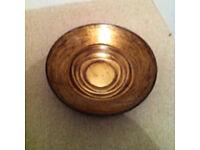 Bronze colour glass bowl