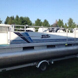20ft pontoon boat with trailer