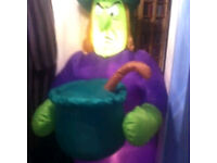 7 Feet High Air-Blown Inflatable Witch - Halloween