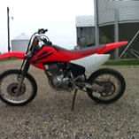 2004 Honda crf 150, looking to trade for camper or car trailer