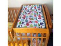 Mamas and Papas over cot changing table vgc