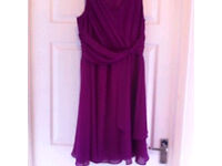 Size 10 fushcia dress- wedding etc