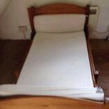 Wooden kids extending bed
