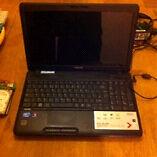 Toshiba laptop 500gb hd 4gb ram