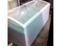 Glass chest freezer