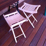Wooden fold up stools Bolwarra Maitland Area Preview