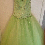 Absolutely stunning Mori Lee princess lime green dress