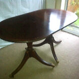 Lovely old table mahogony brass claw feet grab bargain only £15!