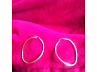 Large 9ct gold earrings