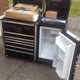 Snapon BBQ and fridge combo
