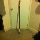 Hand crafted decretive bamboo spear.