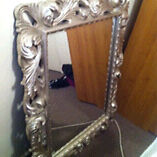 Beautifully crafted wall mirror with a silver finish Kearns Campbelltown Area Preview