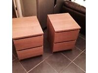 Two Malm IKEA bedside tables - excellent condition
