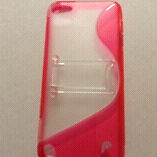Fosmon pink iPod touch 5 case+kickstand 2in1+screen protector!