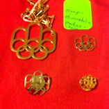 Montreal 1976 olympic logo gold plated NOC pins & pendant