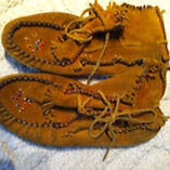 Ladies 9 moccasin slippers