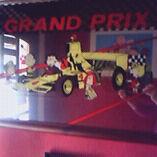 Peanuts Snoopy large 1970s mirror vintage Grand Prix car