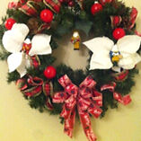 """Made by me Christmas wreath """"MUMMERS"""""""