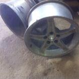 "17x9"" aluminum 5spoke wheels oem cobra wheels"