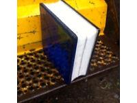 17 x Blue Glass Blocks