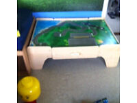 Play train or small world table with drawers £20