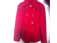 Women's red coat size 10 vgc