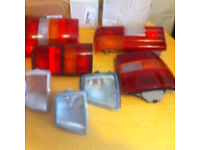 7 Various Vauxhall Front and Rear Lights - Job Lot - LUTON