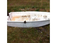 Old plastic ?/fibreglass ?rowing boat