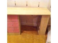 Children's Girls pink desk