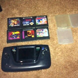 Sega game gear and 6 games