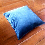 Green / oatmeal duck feather filled cushion