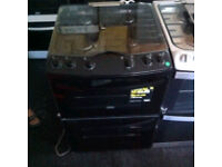 ZANUSSI BLACK FREESTANDING COOKER COMES WITH A FULLY WORKING STORE WARRANTY PRP £450