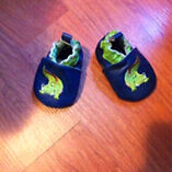 """Soft Sole baby shoes (like """"Robeez"""") Size 0-6M ~NEW~"""