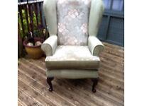 Orthopedic chair - Sage green.