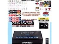 Satellite Openbox v8s fully loaded box, 12 months Sub, BOXING PPV,kids,movies,Sports ,Asian Channels