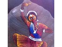 Handmade indian leaf painting