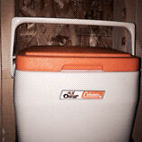 Vintage Lil Oscar Cooler by Coleman clean small sized 8QT