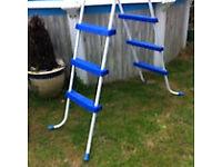 Three step swimming pool ladder
