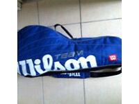 Excellent Wilson Team Blue 3 Racket Tennis Shoulder Bag