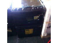 BLACK GAS FREESTANDING NEW ZANUSSI COOKER COMES WITH A WARRANTY