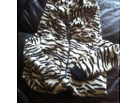 Girl's age 8-9 years zebra onesie