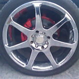 4 bolt chrome rims 300 Obo