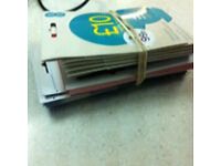 SIM card 25p Each Any Simcard