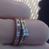 GLACIER FIRE CANADIAN DIAMOND 1.40CTW PRINCESS CUT BRIDAL SET