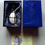 Faberge nest of pearls with stand &box & certificate