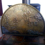 Brass fire screen and kindling box Port Sorell Latrobe Area Preview