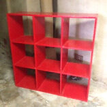 Red IKEA shelves 1.5 m by 1.5 m Cremorne Point North Sydney Area Preview